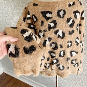 Express Sweaters - Express Leopard Print Sweater